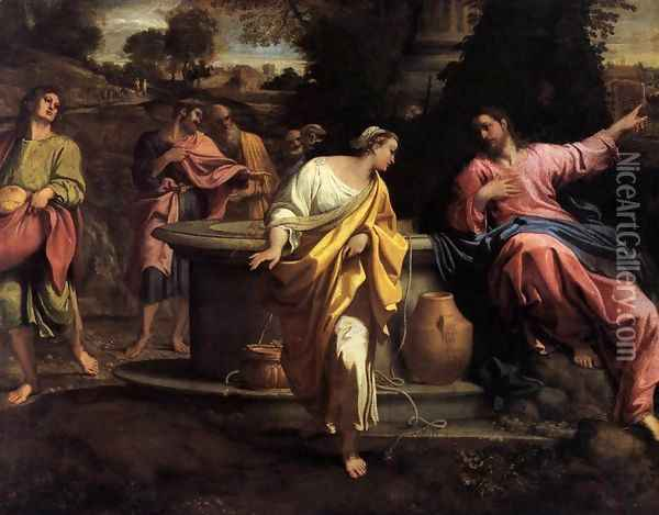 The Samaritan Woman at the Well 2 Oil Painting - Annibale Carracci