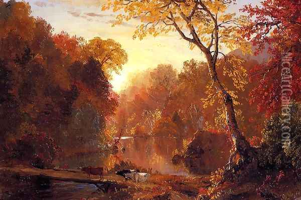 Autumn In North America Oil Painting - Frederic Edwin Church
