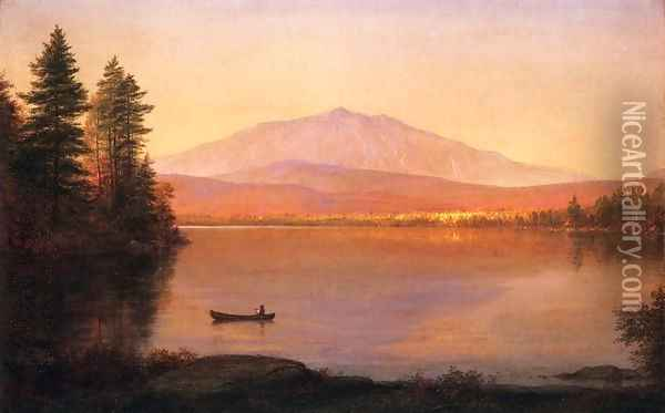 Mount Katahdin from Millinocket Camp Oil Painting - Frederic Edwin Church