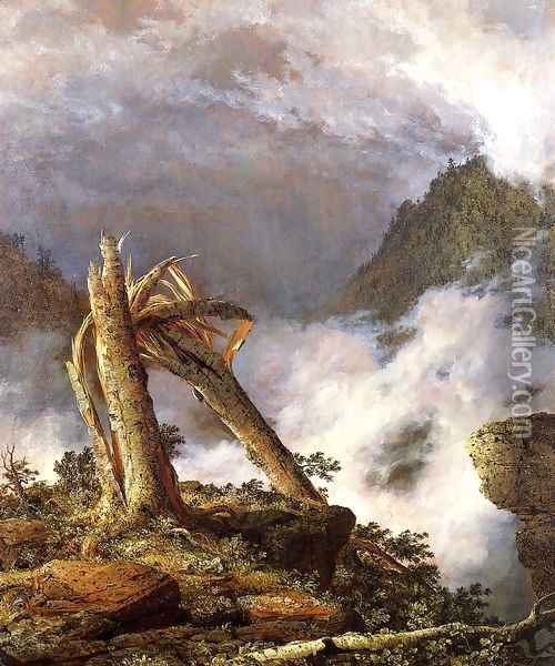 Storm In The Mountains Oil Painting - Frederic Edwin Church