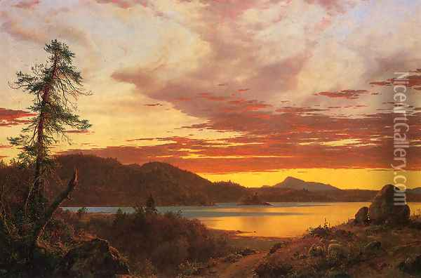 Sunset Oil Painting - Frederic Edwin Church