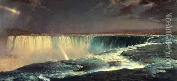 Niagara Falls Oil Painting - Frederic Edwin Church