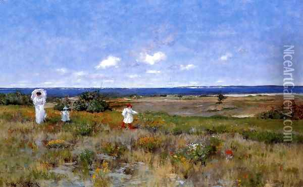 Near The Beach Shinnecock Oil Painting - William Merritt Chase