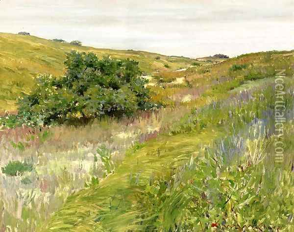 Landscape Shinnecock Hills Oil Painting - William Merritt Chase