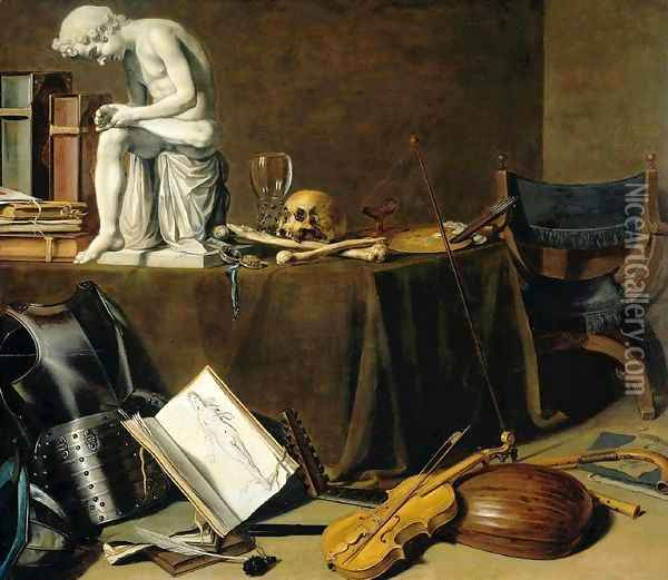 Vanitas Still Life with the Spinario Oil Painting - Pieter Claesz.