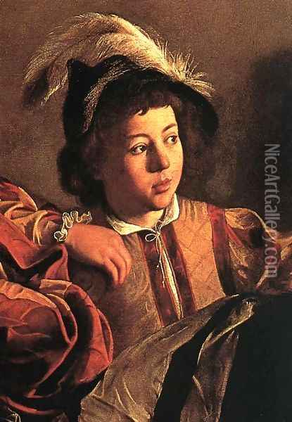 The Calling of Saint Matthew (detail 3) 1599-1600 Oil Painting - Caravaggio