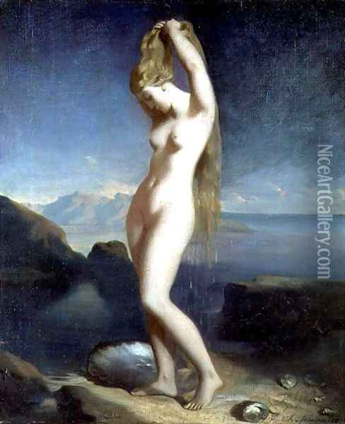 Venus Anadyomene, or Venus of the Sea, 1838 Oil Painting - Theodore Chasseriau