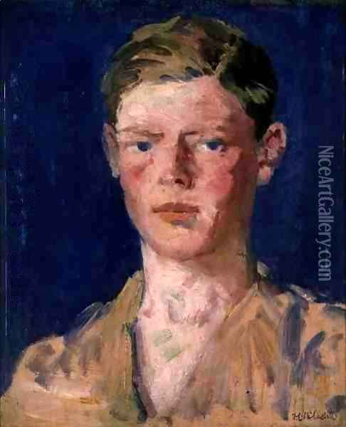 Head of a Young Man Oil Painting - Francis Campbell Boileau Cadell