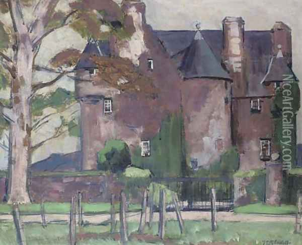 Barcaldine Castle Oil Painting - Francis Campbell Boileau Cadell