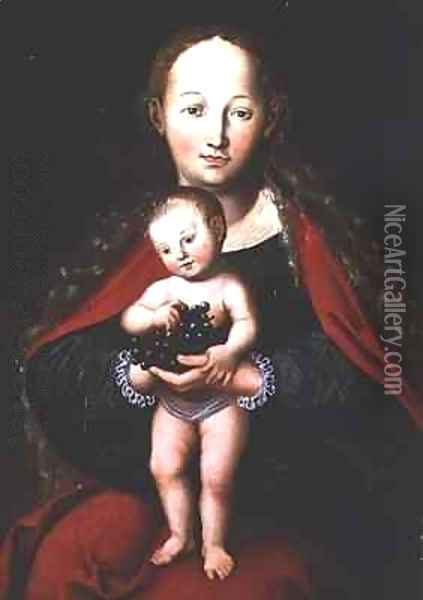 The Virgin and Child Oil Painting - Lucas The Elder Cranach