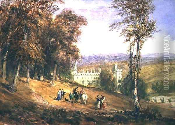 Haddon Hall Oil Painting - David Cox