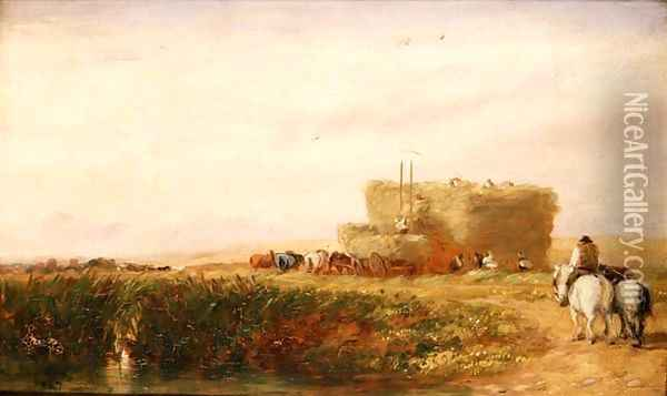 The Hayfield 1847 Oil Painting - David Cox