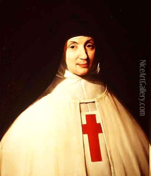 Portrait of Mother Marie-Angelique Arnauld (1591-1661) Abbess of Port-Royal, aged 57, 1648 Oil Painting - Philippe de Champaigne
