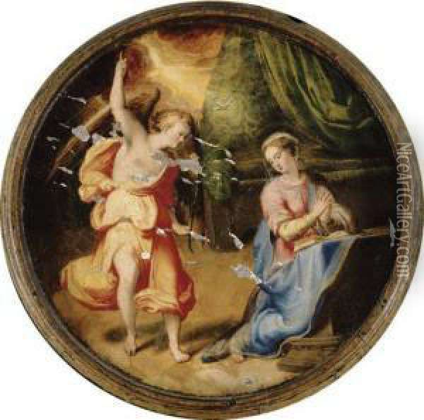 The Annunciation Oil Painting - Lavinia Fontana