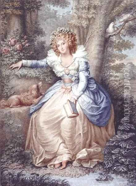 Mrs Fitzherbert, engraved and pub. by Jean Conde (1725-94), 1792 Oil Painting - Richard Cosway