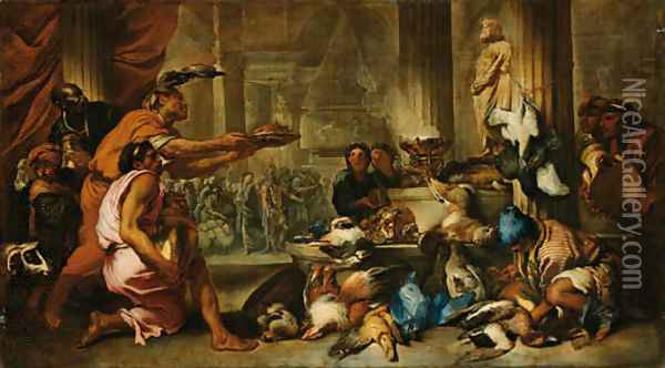 A Pagan Sacrifice Oil Painting - Giovanni Benedetto Castiglione