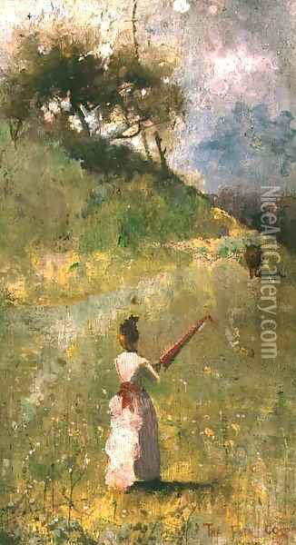 The Fatal Colour Oil Painting - Charles Edward Conder