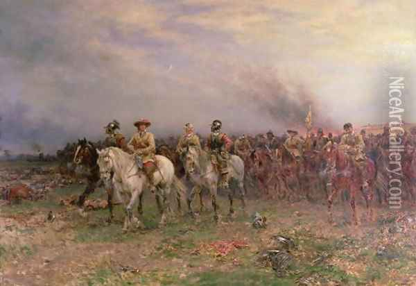 Cromwell after the Battle of Marston Moor oil painting reproduction by Ernest Crofts - NiceArtGallery.com