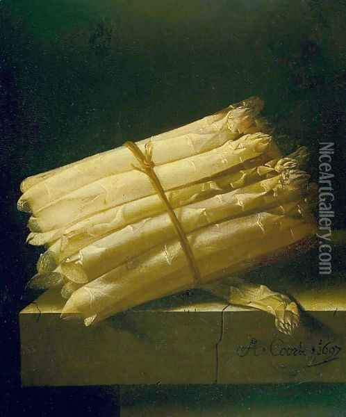 Asparagus Oil Painting - Adriaen Coorte