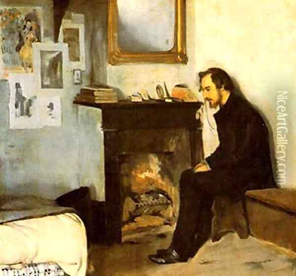 Hombre solo Oil Painting - Ramon Casas Y Carbo