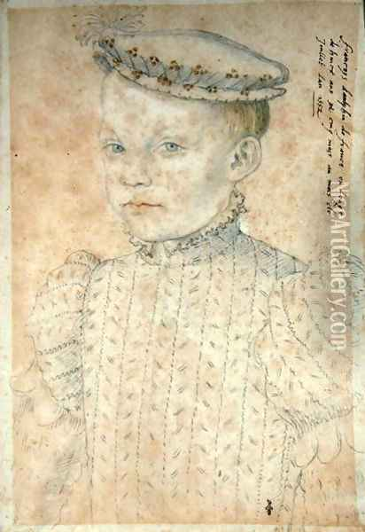 The Dauphin Francois de France (1544-60) future King Francois II, 1552 Oil Painting - (studio of) Clouet