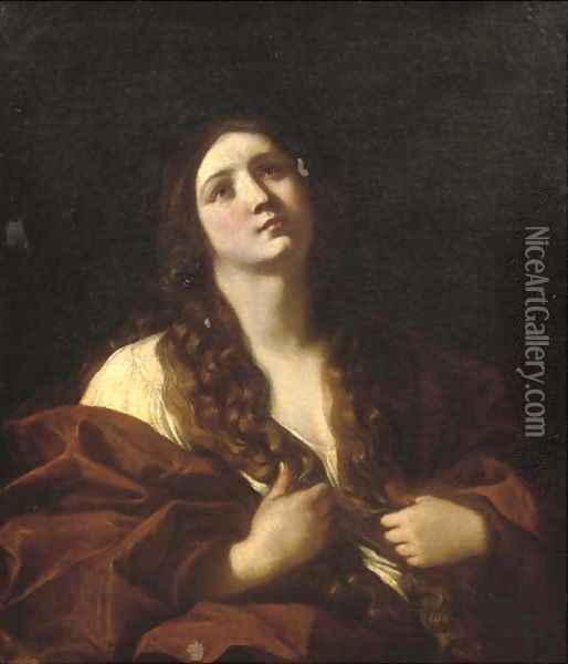 The Penitent Mary Magdalene Oil Painting - Guido Cagnacci