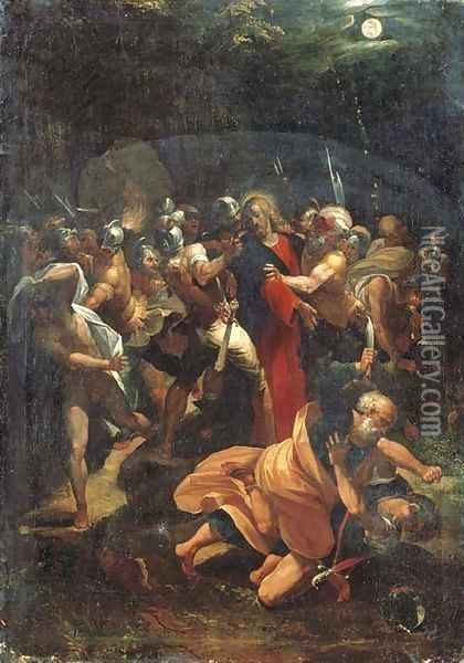 The Arrest of Christ in the Garden of Gethsemane Oil Painting - Giuseppe Cesari