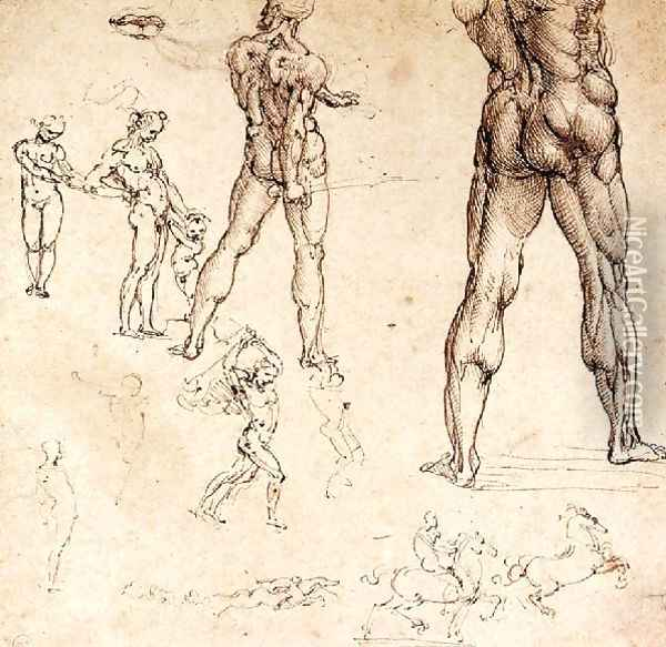 Anatomical Studies Oil Painting - Leonardo Da Vinci