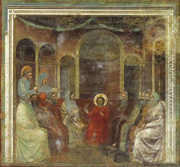 No. 22 Scenes from the Life of Christ- 6. Christ among the Doctors 1304-06 Oil Painting - Giotto Di Bondone