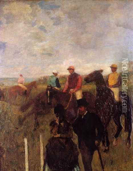 At the Races Oil Painting - Edgar Degas