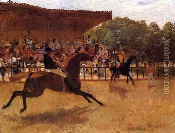 The False Start Oil Painting - Edgar Degas