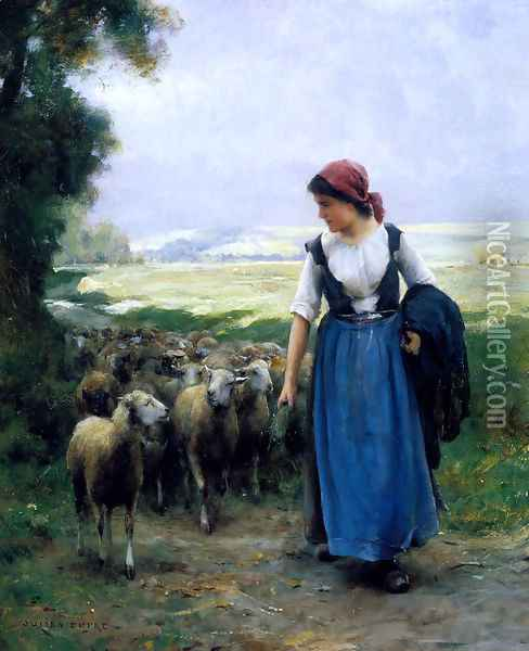 The Young Shepherdess Oil Painting - Julien Dupre
