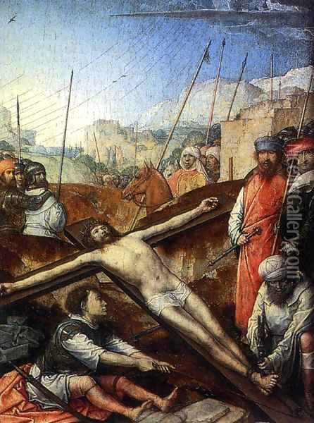 Christ Nailed To The Cross Oil Painting - Juan De Flandes