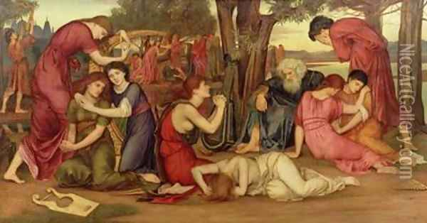 By the Waters of Babylon 1882-83 Oil Painting - Evelyn Pickering De Morgan