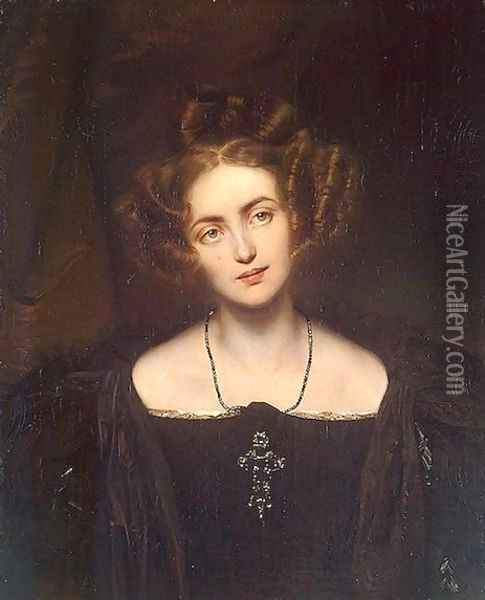 Portrait of Henrietta Sontag Oil Painting - Paul Delaroche