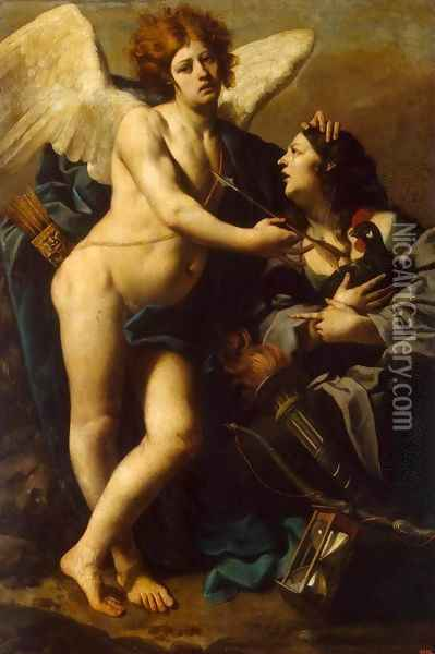 Allegory of Jealousy Oil Painting - Luca Da Reggio (Ferrari)