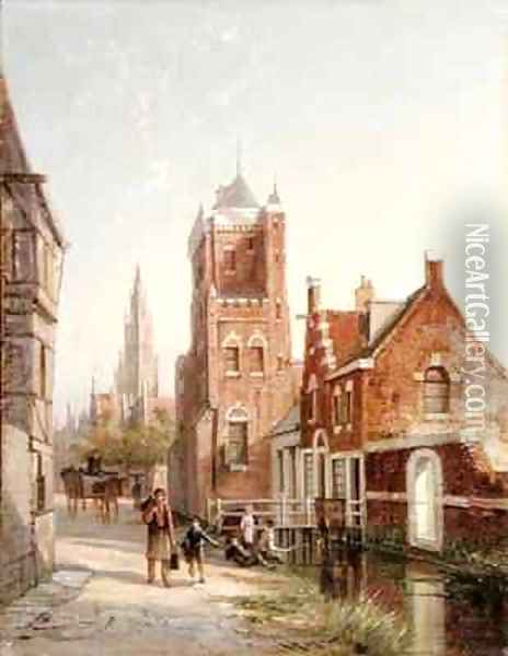 Ammsfoord Holland Oil Painting - William Raymond Dommersen