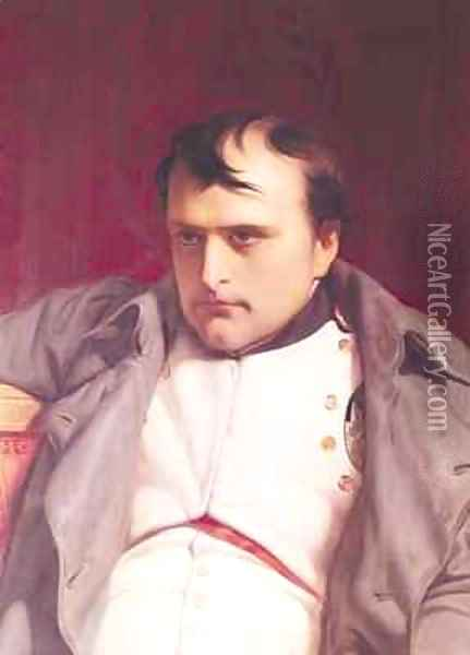 Napoleon 1769-1821 after his Abdication 2 Oil Painting - Hippolyte (Paul) Delaroche