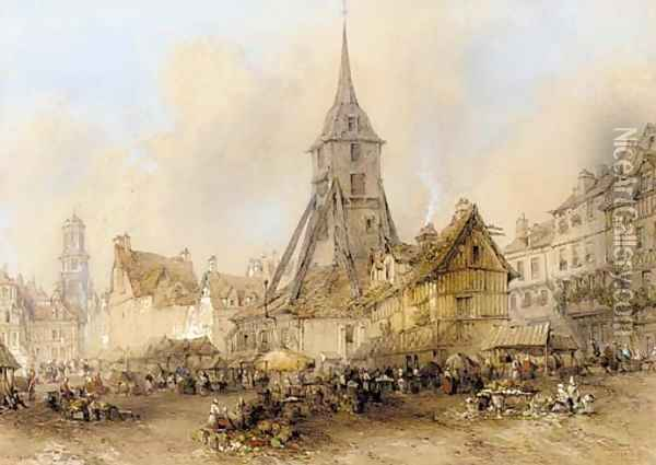 Honfleur Oil Painting - Thomas Colman Dibdin