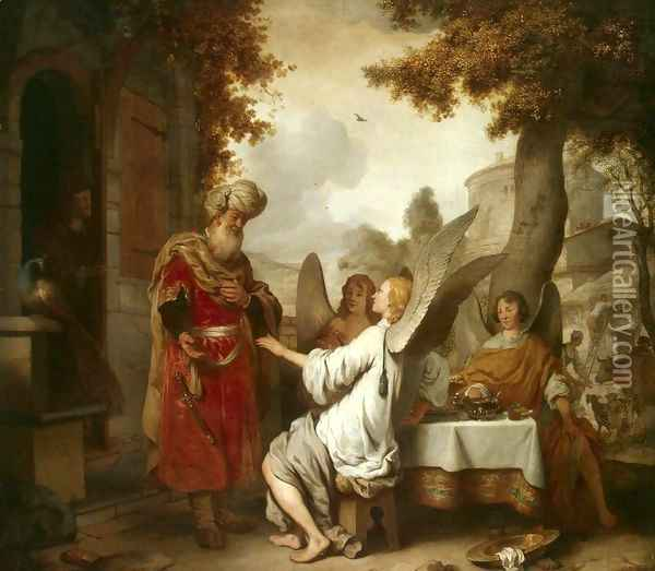 Abraham and the Three Angels Oil Painting - Gerbrand Van Den Eeckhout