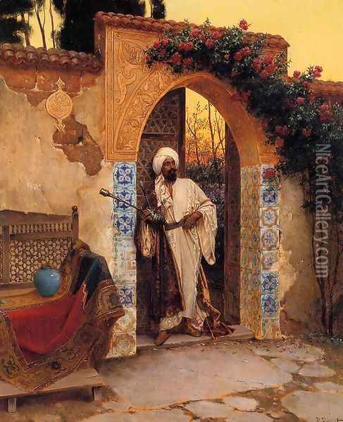 By The Entrance Oil Painting - Rudolph Ernst