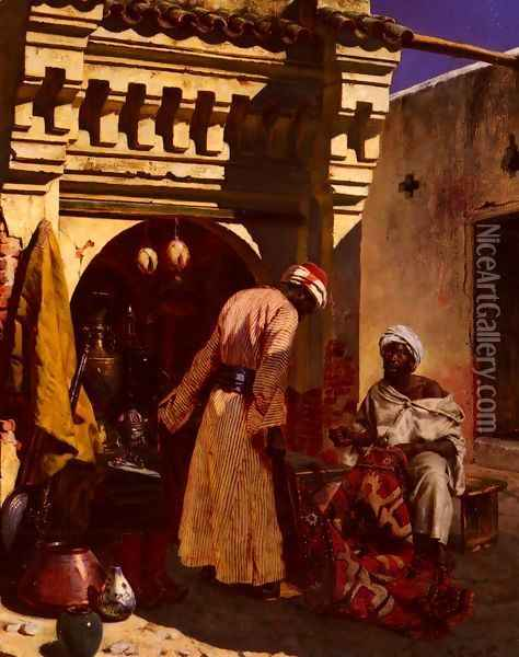The Rug Merchant Oil Painting - Rudolph Ernst
