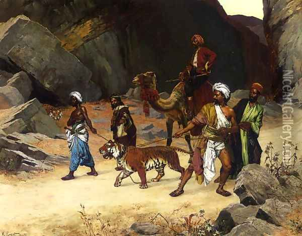The Return from the Tiger Hunt Oil Painting - Rudolph Ernst