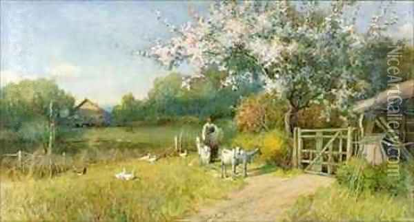 Springtime Oil Painting - Sir Alfred East