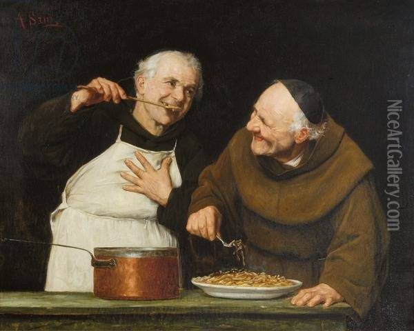 The Tasting Oil Painting Reproduction By Alessandro Sani