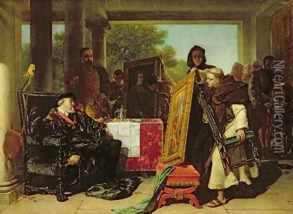 Emperor Charles V 1500-58 at the Convent of Yuste Oil Painting - Alfred Elmore