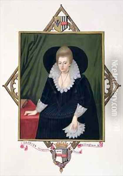 Portrait of Frances Walsingham Countess of Essex from Memoirs of the Court of Queen Elizabeth Oil Painting - Sarah Countess of Essex