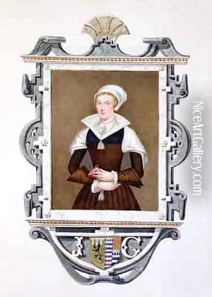 Portrait of Lady Jane Grey 1537-54 Nine Days Queen Oil Painting - Sarah Countess of Essex