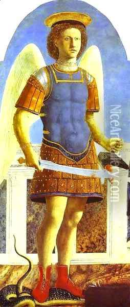 Archangel Michael Oil Painting - Piero della Francesca