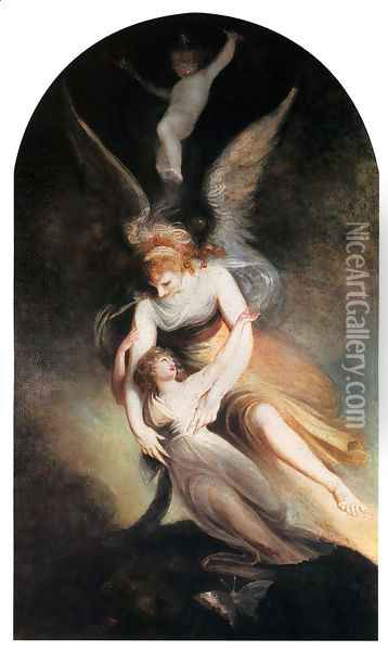 The Apotheosis Of Penelope Boothby Oil Painting - Johann Henry Fuseli